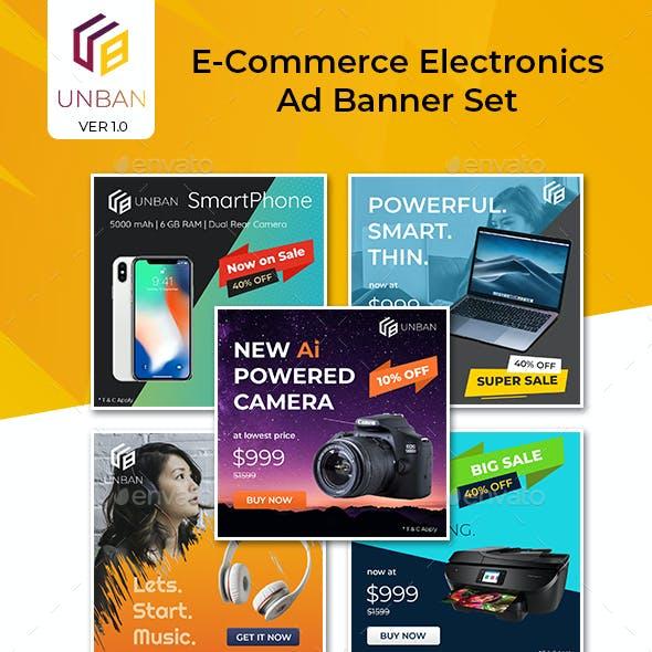 Unban - ECommerce Electronics Ad Banner Set
