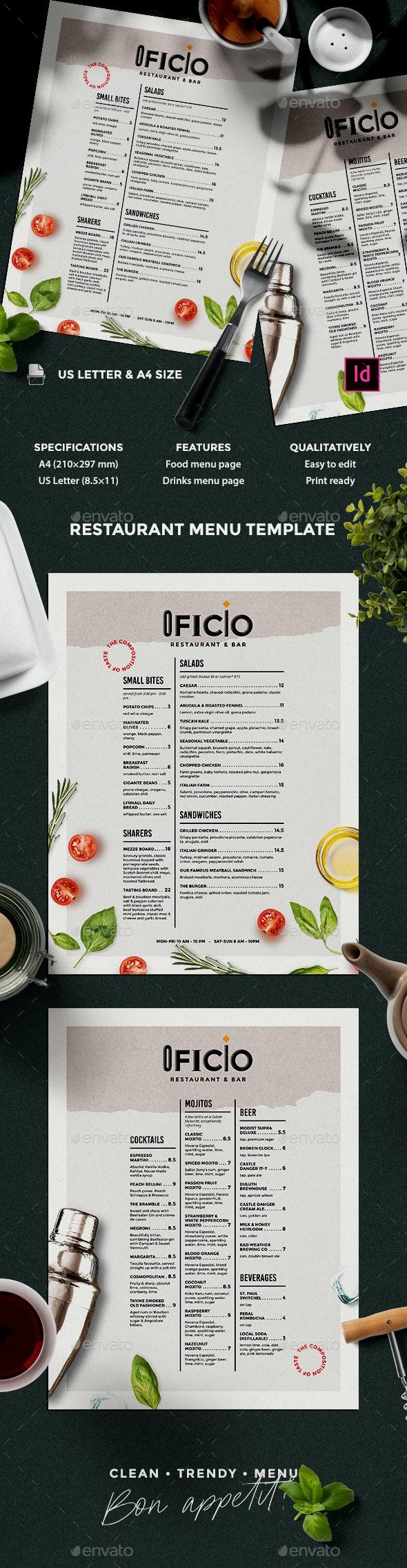 Menu Design - Food Menus Print Templates