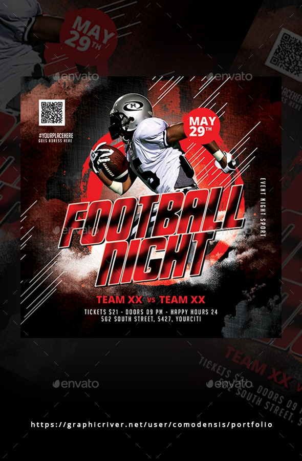 Football Night Flyer - Clubs & Parties Events
