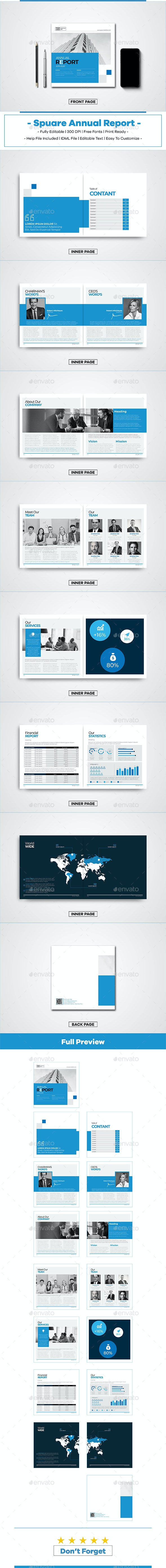 Square Annual Report - Brochures Print Templates
