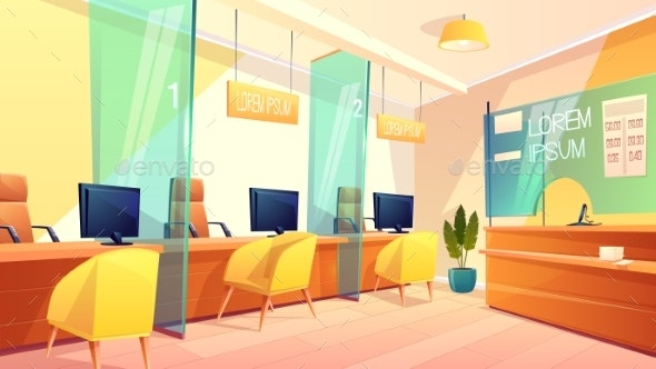 Vector Bank Office - Industries Business