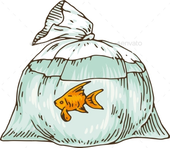 Goldfish in a Plastic Bag - Animals Characters