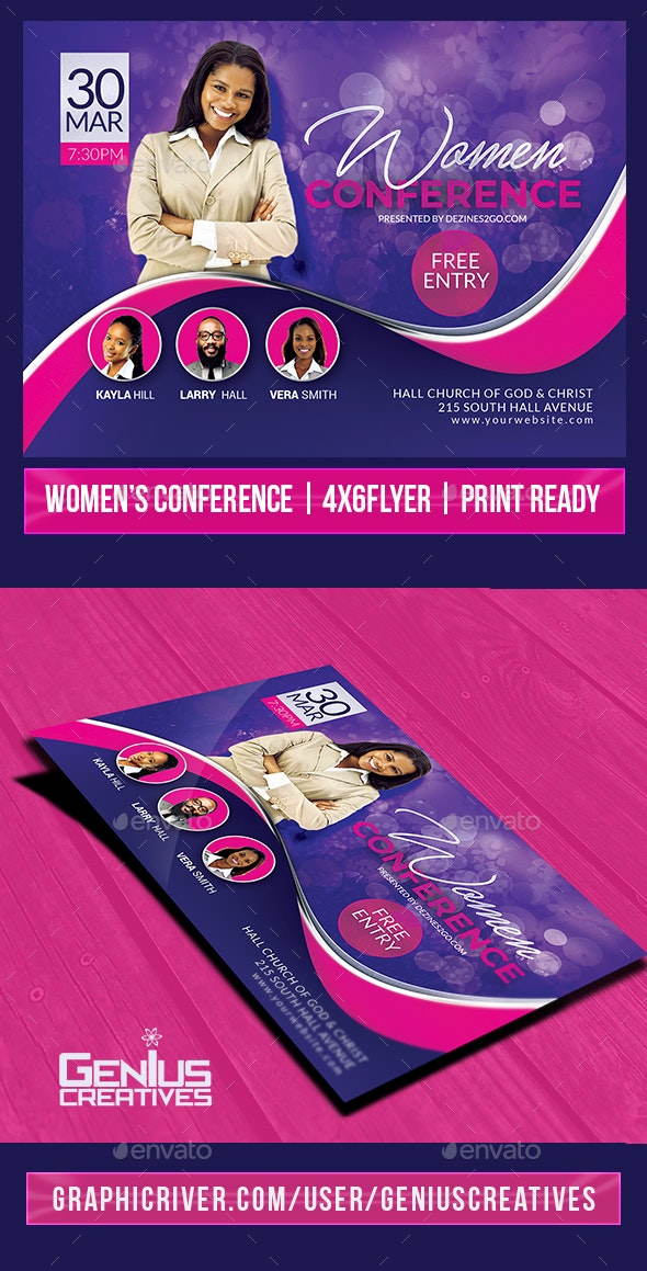 Women's Conference or Event Flyer V3 - Church Flyers