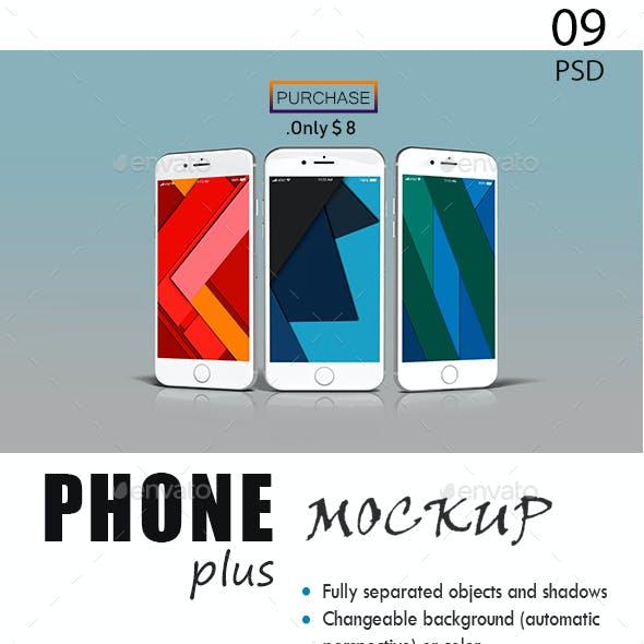 Photorealistic Phone 6 Plus Mockup