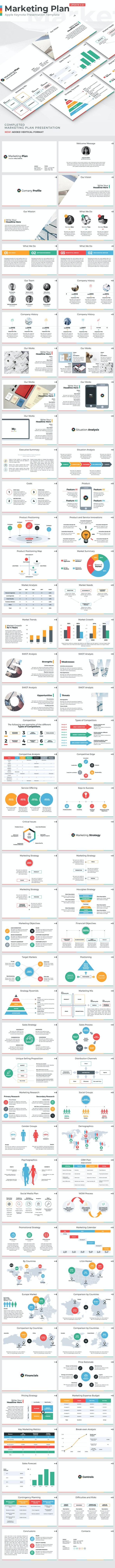 Marketing Plan - Keynote Presentation Template - Keynote Templates Presentation Templates