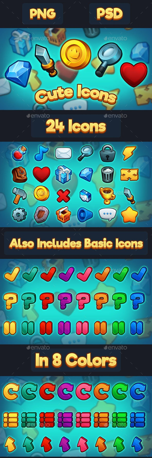 Game UI Icons by ArtByKandles | GraphicRiver