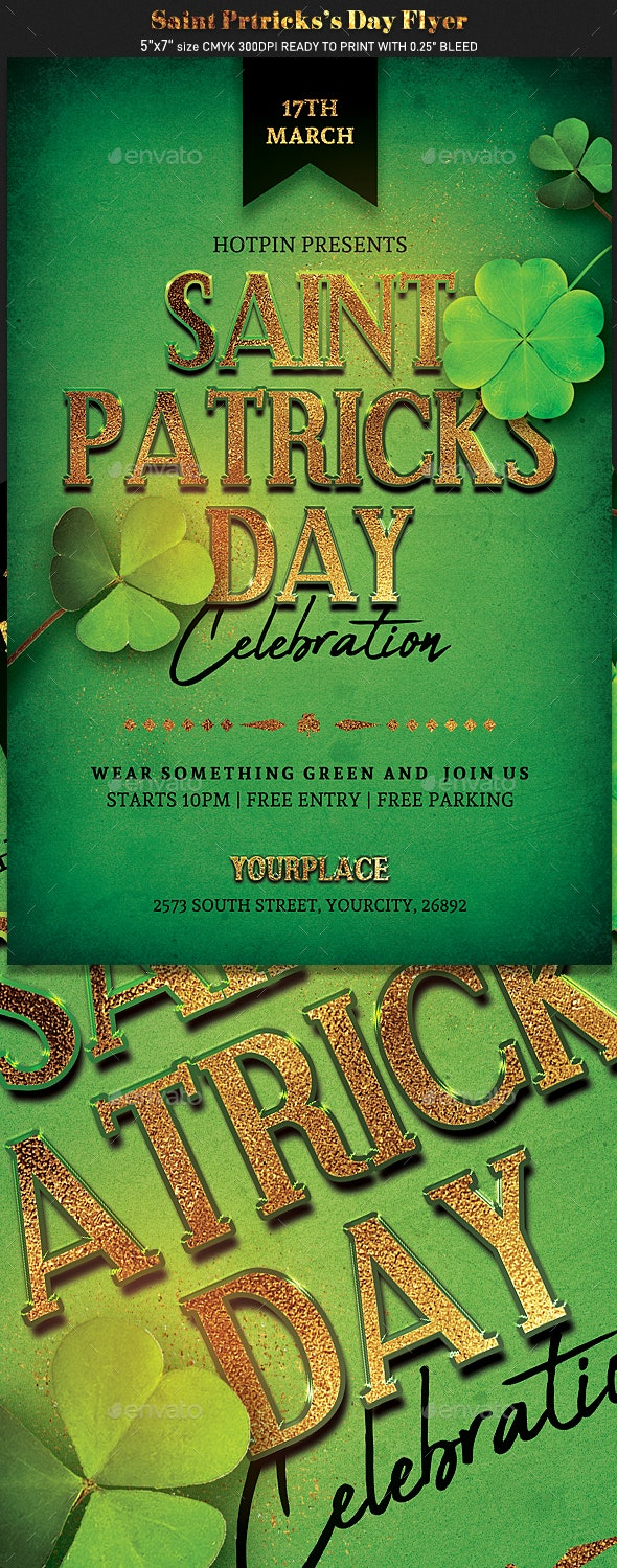 Saint Patricks Day Flyer Template - Events Flyers