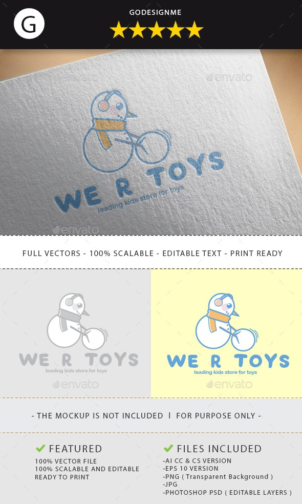 Wer Toys Logo Design - Vector Abstract