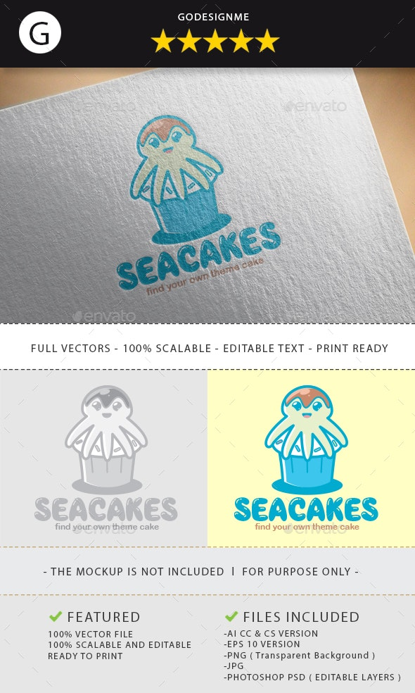 Seacakes Logo Design - Vector Abstract