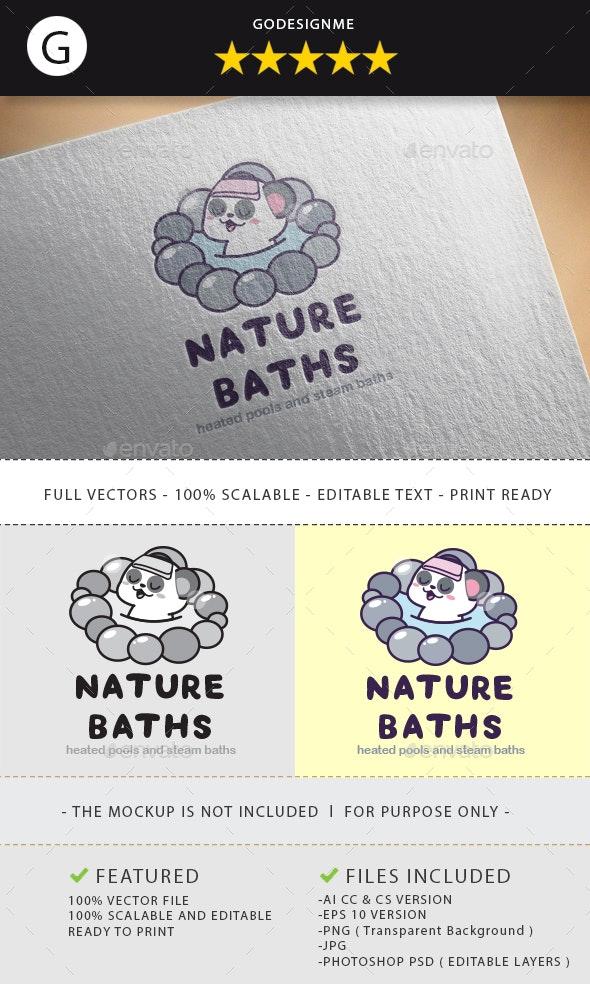 Nature Baths Logo Design by godesignme_kong   GraphicRiver