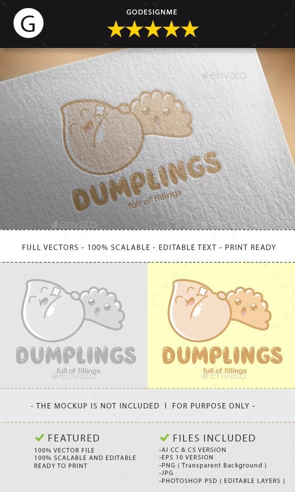 Dumplings Logo Design - Vector Abstract