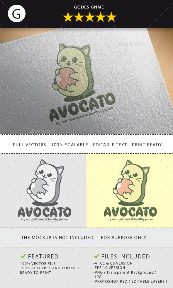Avocato Logo Design - Vector Abstract