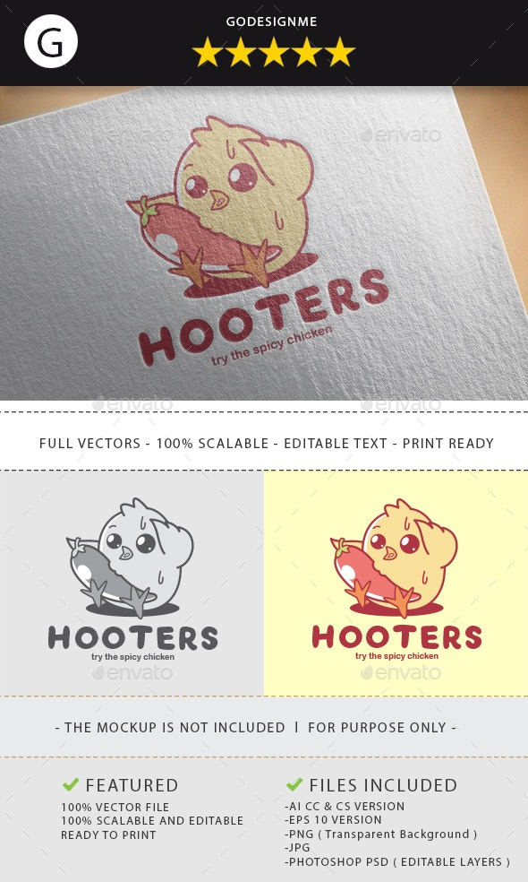 Hooters Logo Design - Vector Abstract