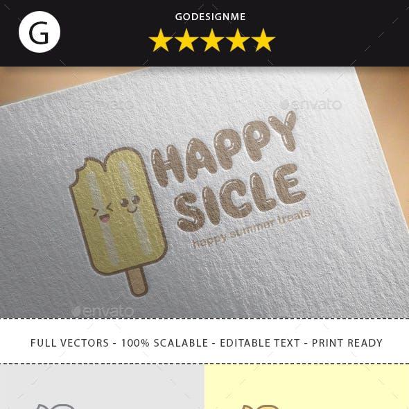 Happy Sicle Logo Design
