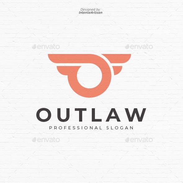 Outlaw O Letter Logo