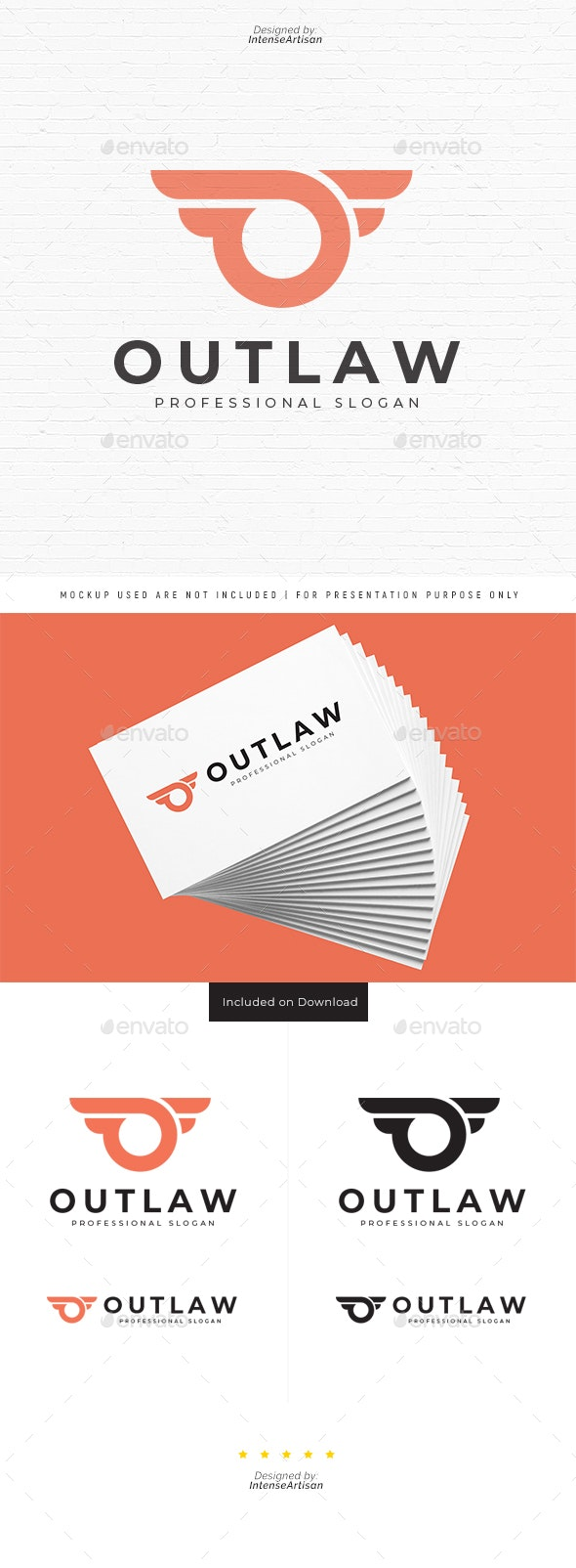 Outlaw O Letter Logo - Letters Logo Templates
