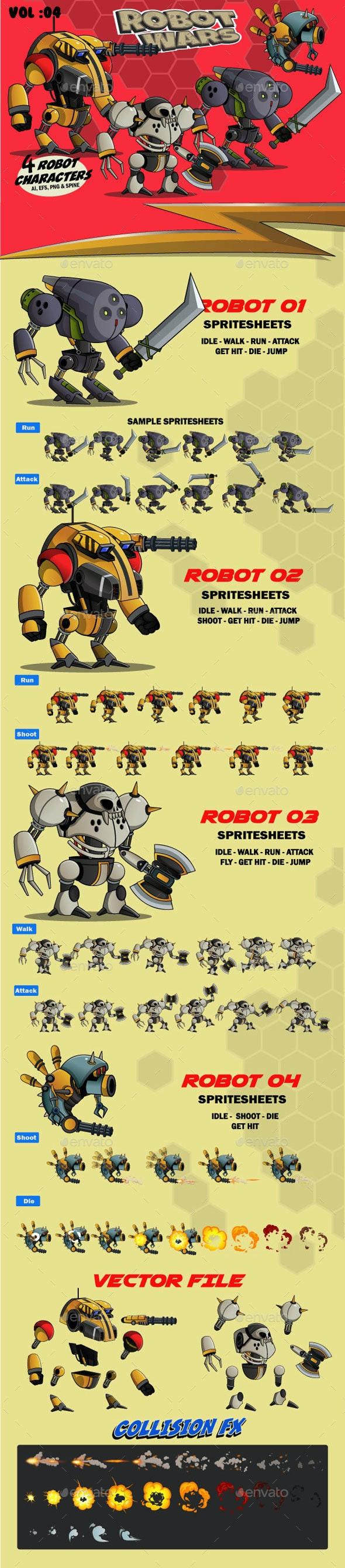 Robot Wars Vol 04 - Sprites Game Assets