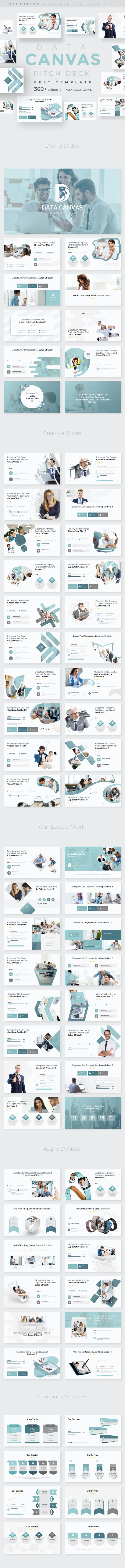 Data Canvas Pitch Deck Powerpoint Template - Business PowerPoint Templates