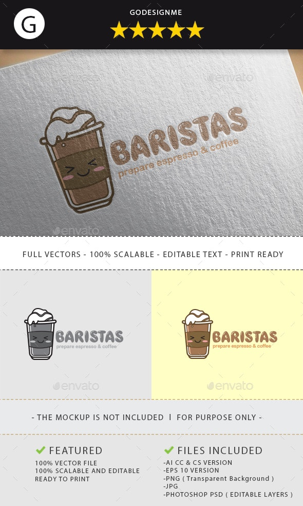 Baristas Logo Design - Vector Abstract