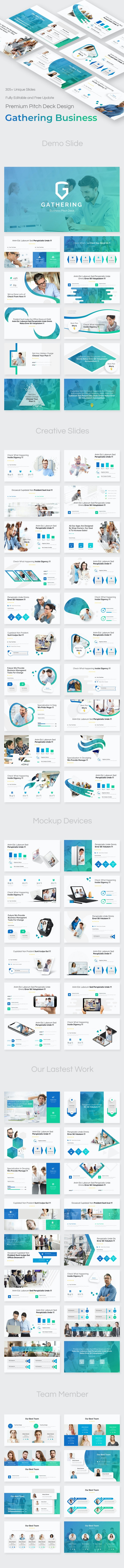 Gathering Business Pitch Deck Powerpoint Template - Business PowerPoint Templates