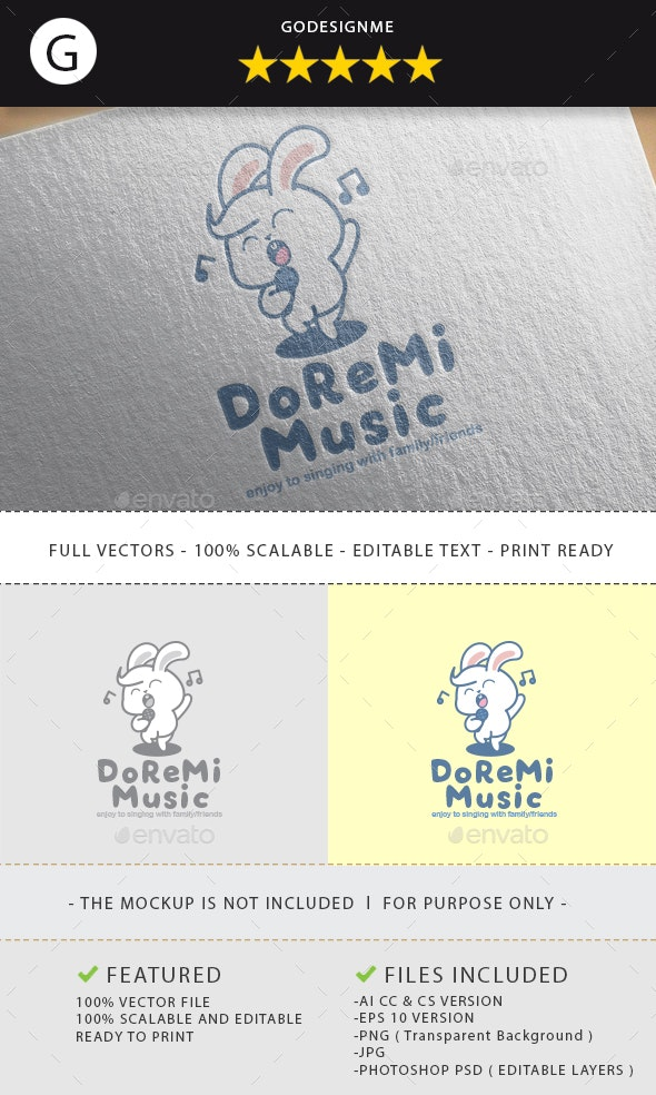 DoReMi Music Logo Design - Vector Abstract
