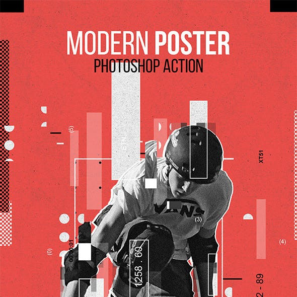 Modern Poster Photoshop Action
