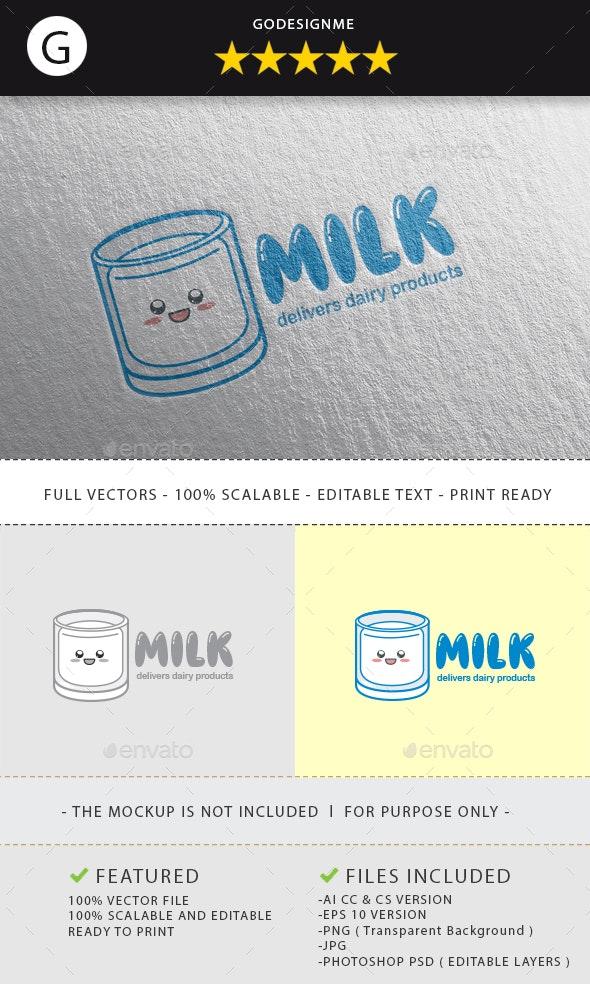 Milk Logo Design - Vector Abstract