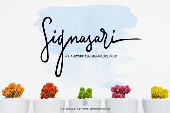 Signasari - Hand-writing Script