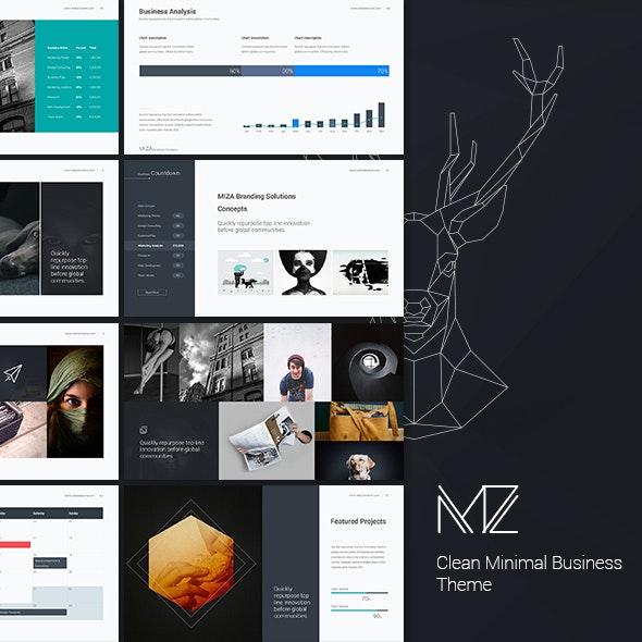 Miza - Business Clean Template (Google Slide) - Google Slides Presentation Templates