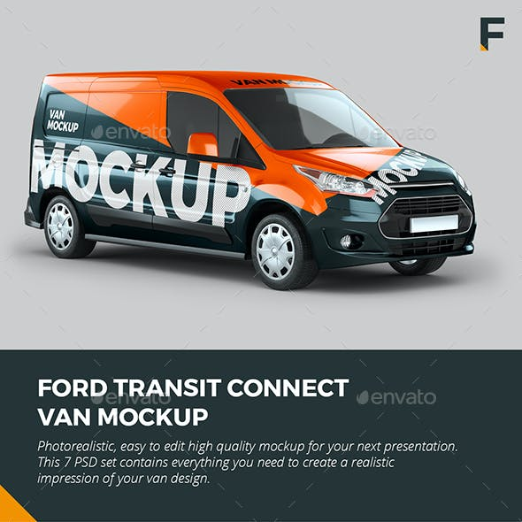 Ford Transit Connect Van Mock up