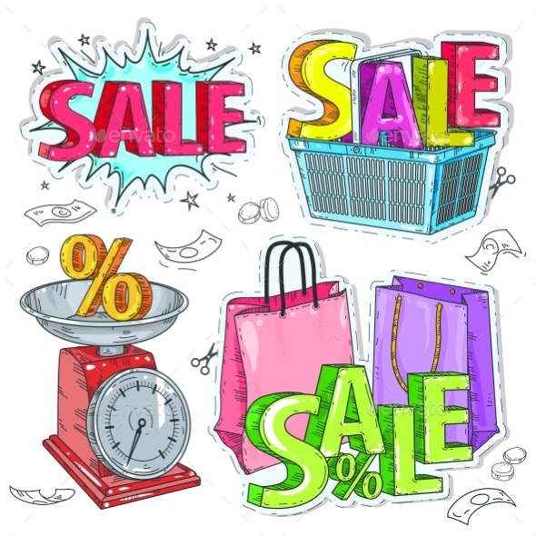 Colorful Items for Trade or Sale - Miscellaneous Vectors