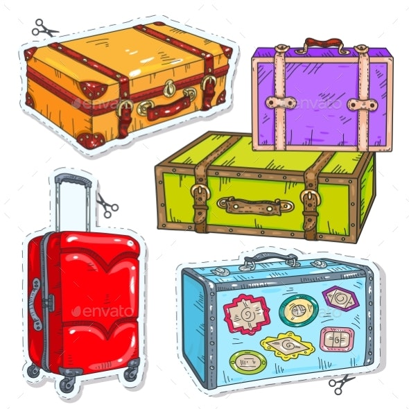 Set of Travel Bags - Man-made Objects Objects