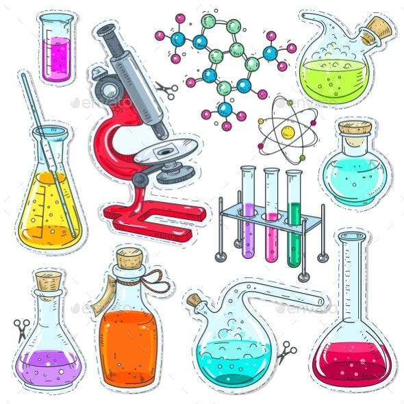Set of Chemical Laboratory Equipment - Miscellaneous Vectors
