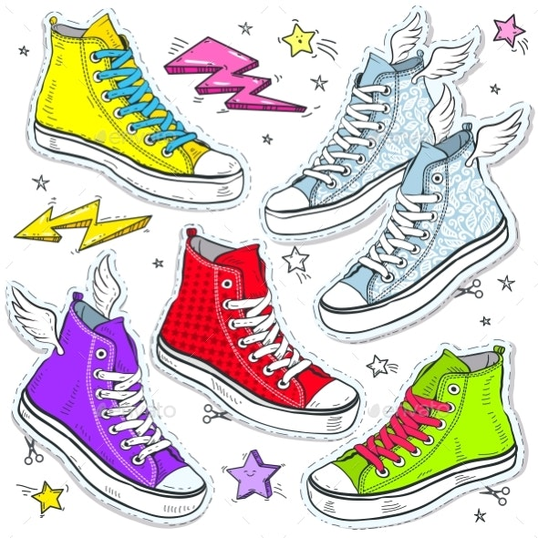 Set of Sneakers - Miscellaneous Vectors
