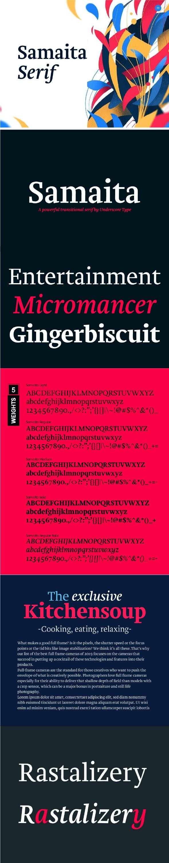 Samaita Serif Type Family - Miscellaneous Serif