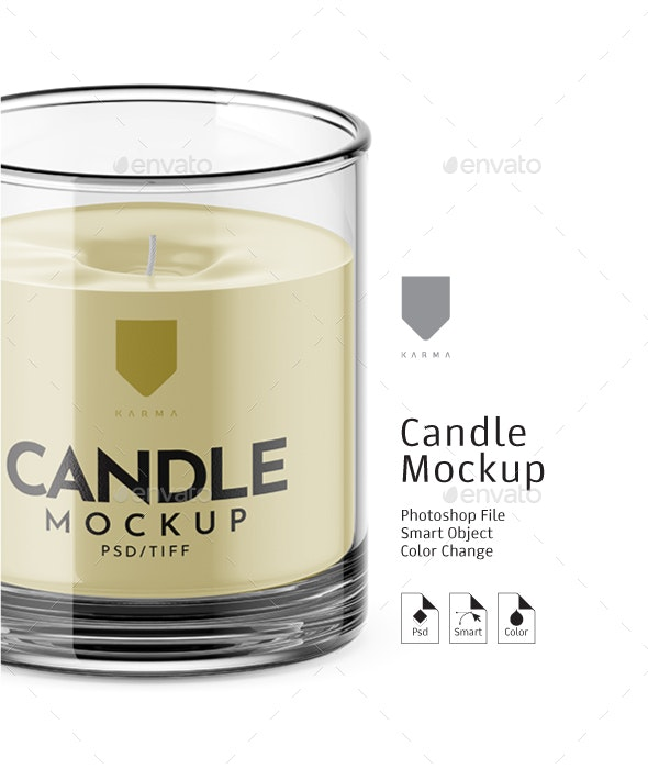 Candle Mockup - Miscellaneous Product Mock-Ups