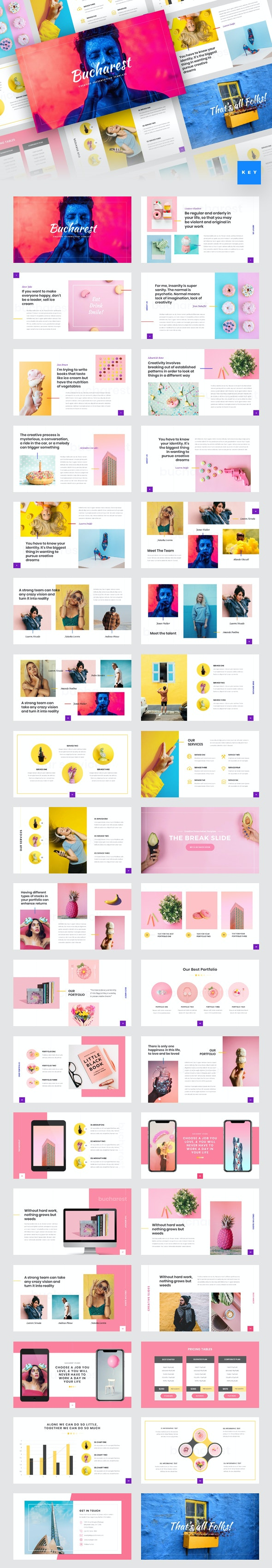 Bucharest - Creative Keynote Template - Creative Keynote Templates