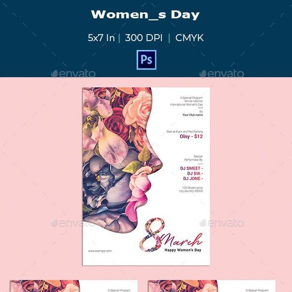 Women's Day Flyer -V01