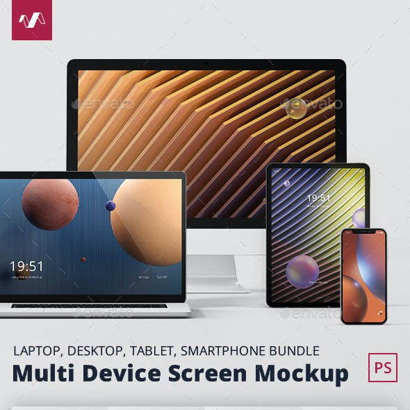 Multi Device Screen Mockup Bundle