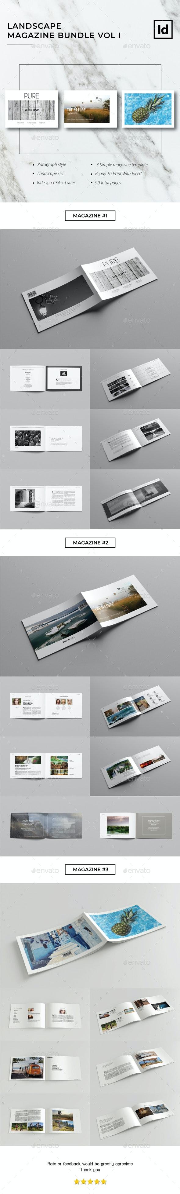 Landscape Magazine Bundle Vol. I - Magazines Print Templates