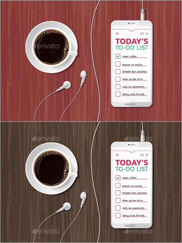 Morning To-Do List - Miscellaneous Vectors