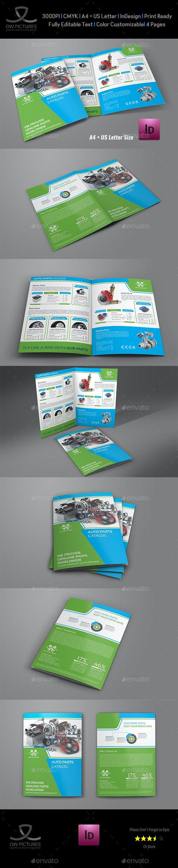 Auto Parts Catalog Bi-Fold Brochure Template Vol.3 - Catalogs Brochures