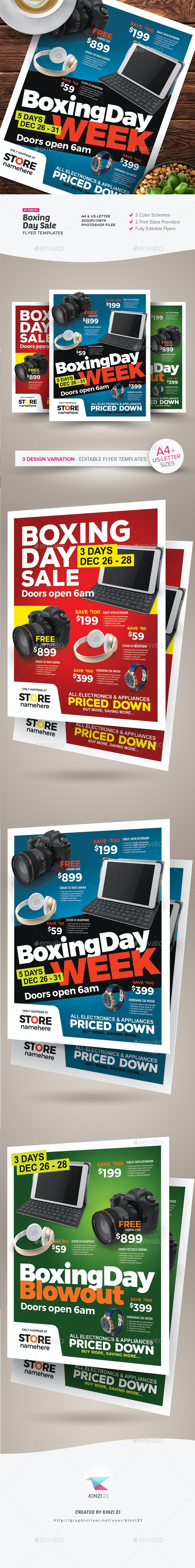 Boxing Day Sale Flyer Templates - Commerce Flyers