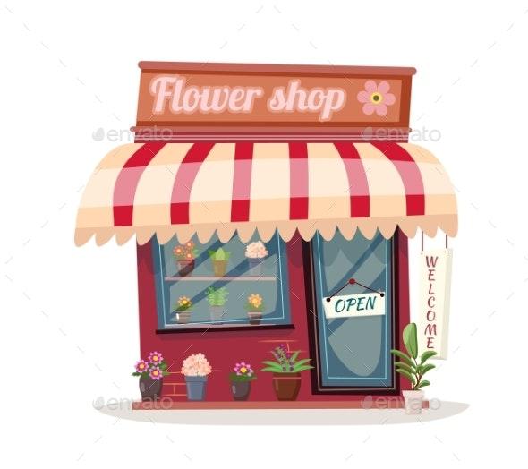 Bent Flower Shop Building - Flowers & Plants Nature
