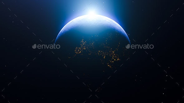 Sunrise Over The Earth - 3D Backgrounds