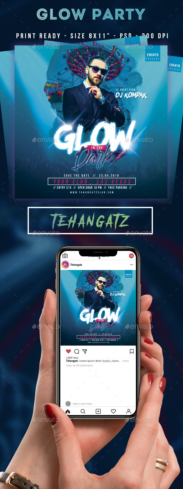 Glow Event Party Flyer - Clubs & Parties Events