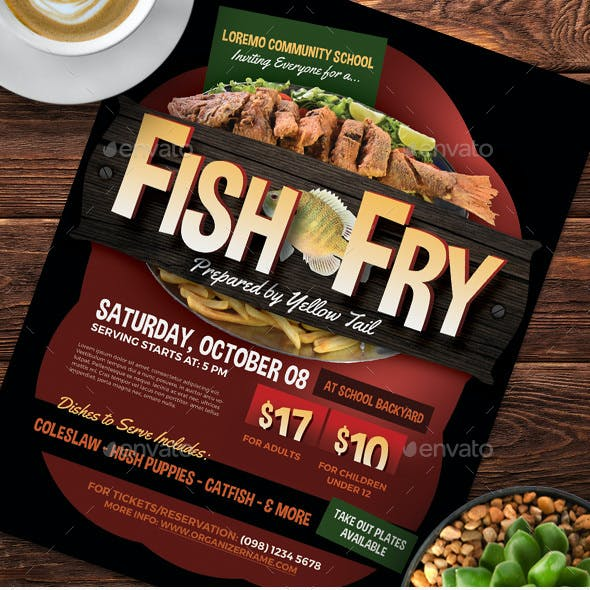 Fish Fry Flyer Templates