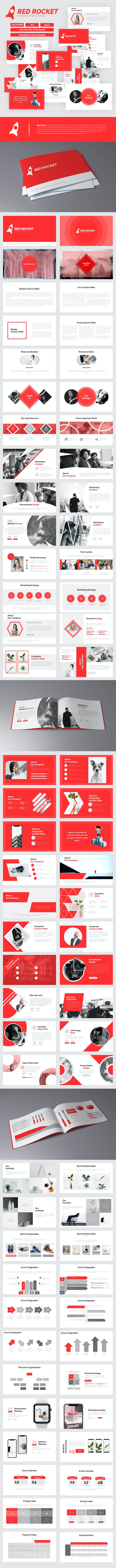 RedRocket Presentation Template - Business PowerPoint Templates