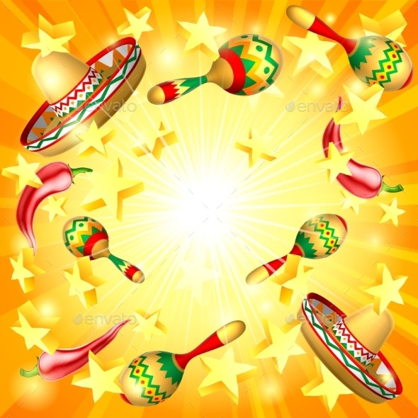 Cinco De Mayo Mexican Holiday Themed Background - Miscellaneous Seasons/Holidays