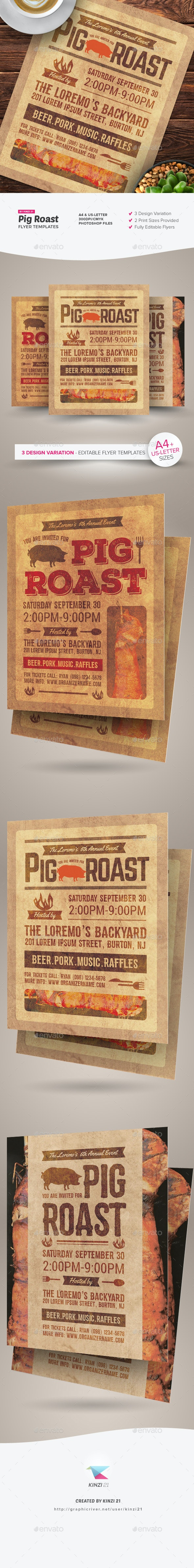 Pig Roast Flyer Templates - Miscellaneous Events